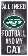 "New York Jets 6"" x 12"" Football & My Cat Sign"
