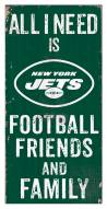 """New York Jets 6"""" x 12"""" Friends & Family Sign"""