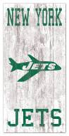 "New York Jets 6"" x 12"" Heritage Logo Sign"