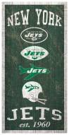 "New York Jets 6"" x 12"" Heritage Sign"