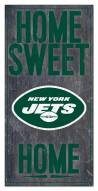 """New York Jets 6"""" x 12"""" Home Sweet Home Sign"""