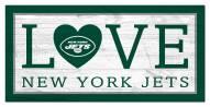 "New York Jets 6"" x 12"" Love Sign"