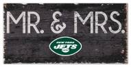 "New York Jets 6"" x 12"" Mr. & Mrs. Sign"