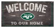 """New York Jets 6"""" x 12"""" Welcome Sign"""