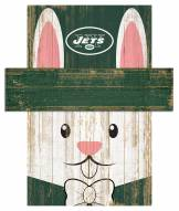 """New York Jets 6"""" x 5"""" Easter Bunny Head"""