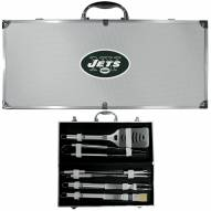 New York Jets 8 Piece Stainless Steel BBQ Set w/Metal Case