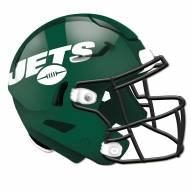 New York Jets Authentic Helmet Cutout Sign
