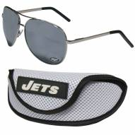New York Jets Aviator Sunglasses and Sports Case