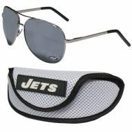 New York Jets Aviator Sunglasses and Sports Case