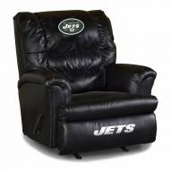 New York Jets Big Daddy Leather Recliner