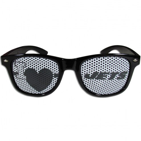 New York Jets Black I Heart Game Day Shades
