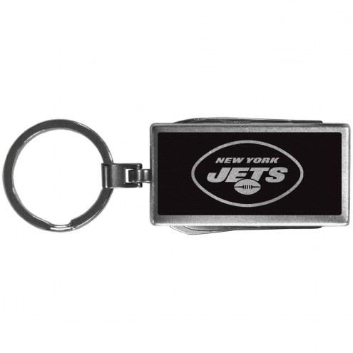 New York Jets Black Multi-tool Key Chain