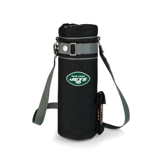 New York Jets Black Wine Sack