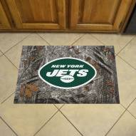 New York Jets Camo Scraper Door Mat