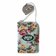 New York Jets Canvas Floral Smart Purse