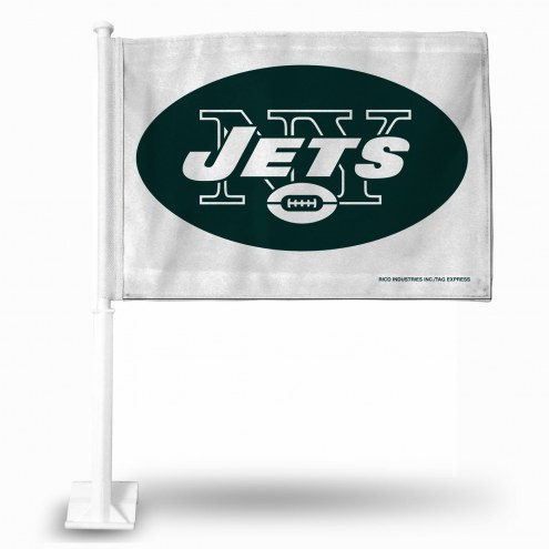 New York Jets White Car Flag