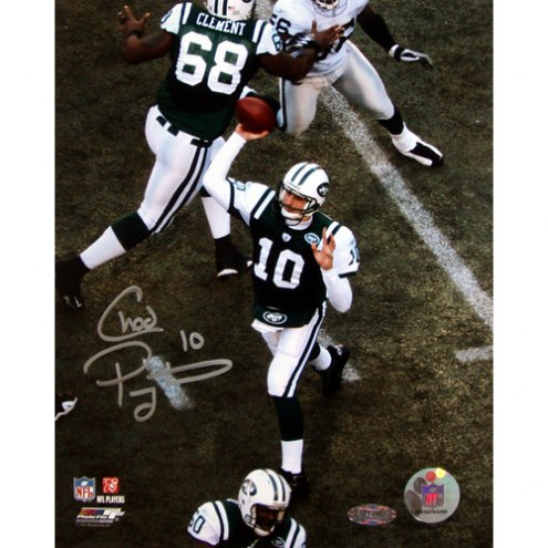 "New York Jets Chad Pennington Overhead Pass Signed 16"" x 20"" Photo"