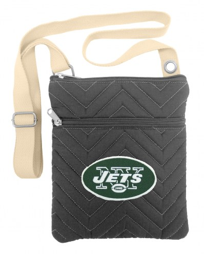 New York Jets Chevron Stitch Crossbody Bag