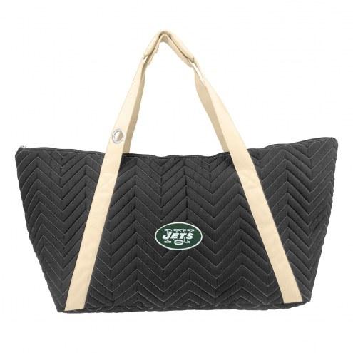 New York Jets Chevron Stitch Weekender Bag