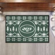 New York Jets Christmas Sweater Starter Rug