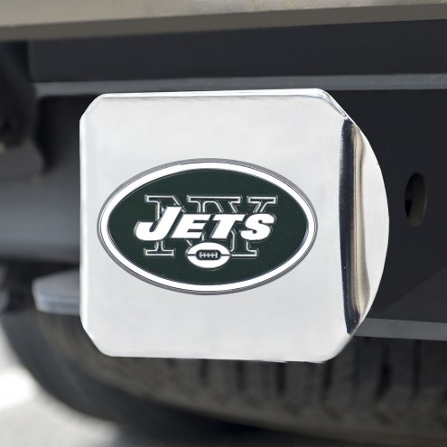 New York Jets Chrome Color Hitch Cover