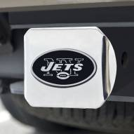 New York Jets Chrome Metal Hitch Cover