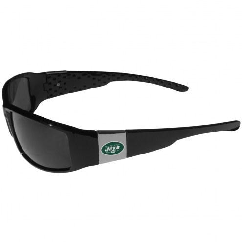 New York Jets Chrome Wrap Sunglasses