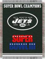 New York Jets Commemorative Throw Blanket