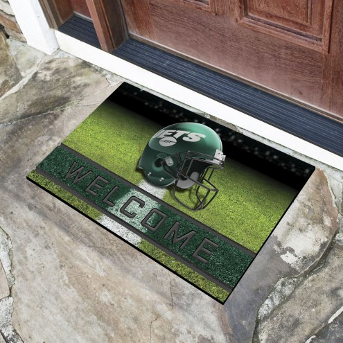 New York Jets Crumb Rubber Door Mat