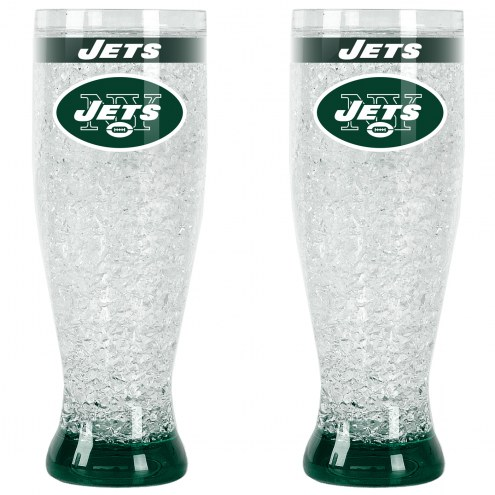 New York Jets Crystal Pilsner Glass