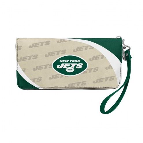 New York Jets Curve Zip Organizer Wallet