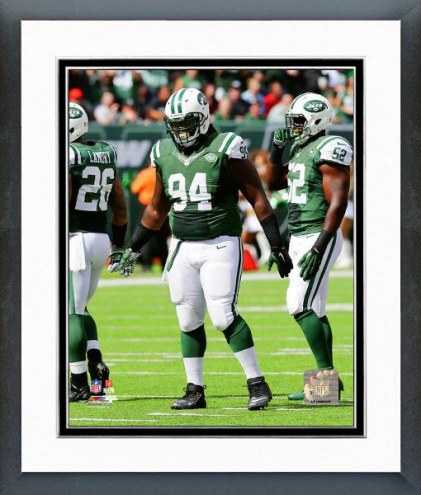 New York Jets Damon Harrison 2014 Action Framed Photo