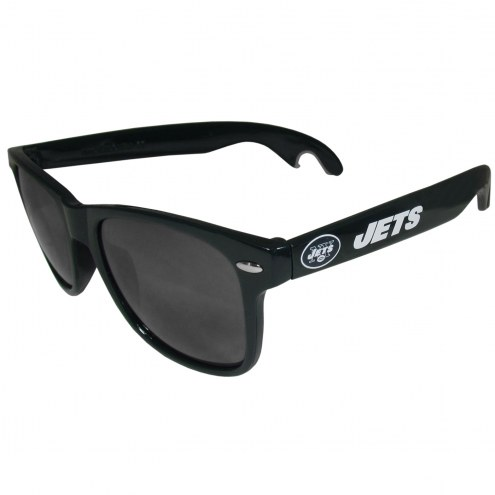 New York Jets Dark Green Beachfarer Bottle Opener Sunglasses
