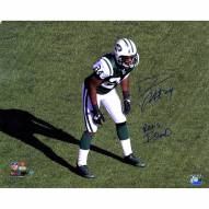 """New York Jets Darrelle Revis Stance w/ """"Revis Island"""" Signed 16"""" x 20"""" Photo"""