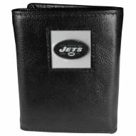 New York Jets Deluxe Leather Tri-fold Wallet in Gift Box