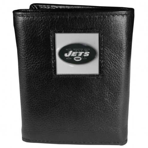New York Jets Deluxe Leather Tri-fold Wallet