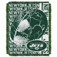 New York Jets Double Play Jacquard Throw Blanket