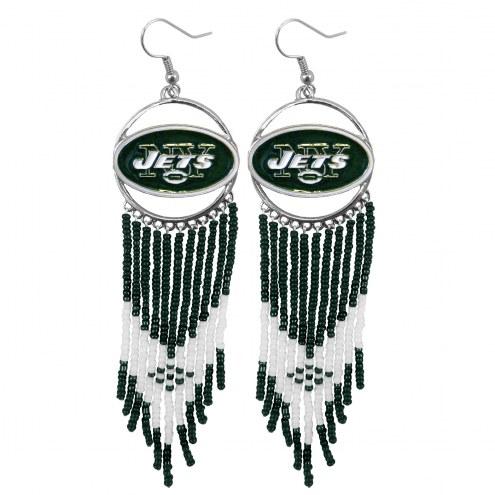 New York Jets Dreamcatcher Earrings