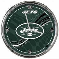 New York Jets Dynamic Chrome Clock