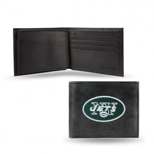 New York Jets Embroidered Leather Billfold Wallet