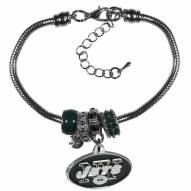 New York Jets Euro Bead Bracelet