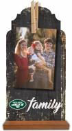 New York Jets Family Tabletop Clothespin Picture Holder