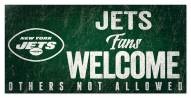 New York Jets Fans Welcome Sign