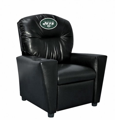New York Jets Faux Leather Kid's Recliner