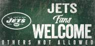 New York Jets Fans Welcome Wood Sign
