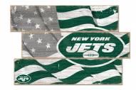 New York Jets Flag 3 Plank Sign