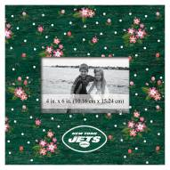 """New York Jets Floral 10"""" x 10"""" Picture Frame"""