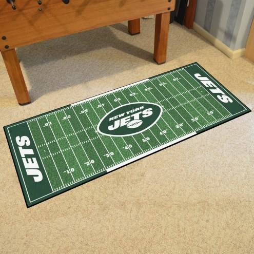 New York Jets Football Field Runner Rug