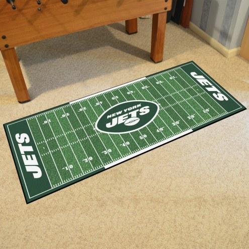 New York Jets Football Field Runner Rug