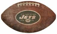 New York Jets Football Shaped Sign